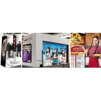 Cheap Advertising Led Poster Screen ZLM25 , Wireless Multi - Screen Light Box Display Stand for sale