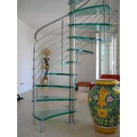 Buy cheap Morden Design Spiral Staircase with Glass Tread and Steel Railing from wholesalers