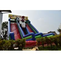 Cheap Big Inflatable Super Mario Subject High Slide Beautiful Inflatable Digital Painting Tall High Dry Slide for sale