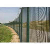 Quality Black Low Carbon 358 Security Fence 72.6 * 12.7mm Anti Climb Fence wholesale