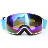 Custom Adult Sport Blue Polarized Snow Goggles For Mountaineering Protective Eyewear