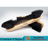 Cheap Casino Table Maple Wood Brush Dedicated Table Layout Cleaning Brush For Casino Gambling Poker Games wholesale