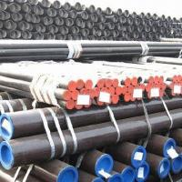 Cheap ERW carbon steel pipes/tubes with black paint, 5.8 to 12m length ranging for sale