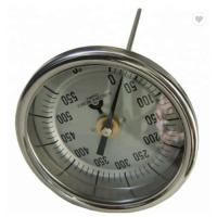China Precision Back Connection Axial Bimetal Thermometer Dial 2 2.5 3 4 on sale