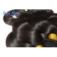 Cheap White Girl Eurasian Virgin Hair Weave Wine Red / Brown Hair Extensions for sale