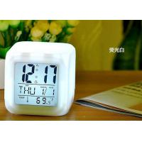 Cheap New Cube Glowing Led Colors Changing Digital Alarm Clock Display Time & Date Week & Temperature for sale