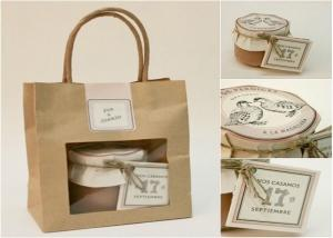 China Gift paper bag with window - fashion & beautiful on sale
