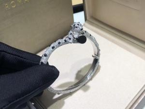 Cheap 15.74 Carats 706 Diamonds Panthere De Cartier Bracelet 18k White Gold for sale