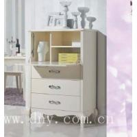 Cheap European style wooden white Drawer chest for sale
