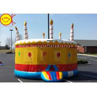 Cheap 0.55mm PVC Birthday Cake Inflatable Bounce House Jumper Combo Bouncer For Kids Play for sale