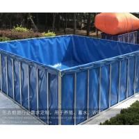Cheap 1000 Litres Tarpaulin Fish Tank ,  Foldable Fish Tank For Aquaculture Farms MOQ 1 Piece for sale