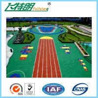 China Playground Acrylic Sports Flooring , High Elasticity Flexible EPDM Rubber Granules on sale