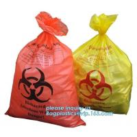 Cheap disposable autoclave sterilization biohazard bags, Heavy duty safety plastic biohazard infectious waste bag medical wast for sale
