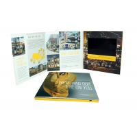 China Rechargeable lcd video greeting card , 7 inch / 10 inch lcd brochures on sale