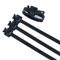 China Flame Retardant Reusable Metal Zip Ties , 316 Stainless Steel Cable Tie Wraps on sale