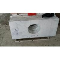 Quality Guangxi White Marble Vanity Top,China Carrara White Marble Counter Tops,White Bathroom Top,Marble Kitchen Vanity Top wholesale