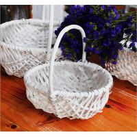 China wicker handle basket wicker fruit basket bamboo wicker baskets cheap wicker picnic basket on sale