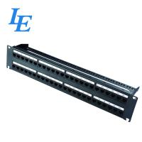 Cheap 2U 48 Ports Network Patch Panel UTP Type 2U Height Maximum Connections >200 Times for sale