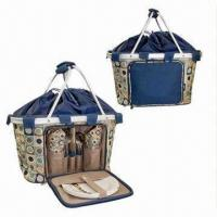 Cheap Picnic Cooler Bags in Basket Style, Made of 600D Polyester with Aluminum Frame for sale
