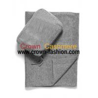 Cheap men and women knitted winter pure cashmere blankets for sale
