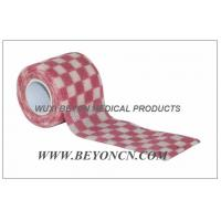 Cheap Cohesive Self Adhesive Bandage Elastic Wrap OEM Pink Check For Fixation for sale