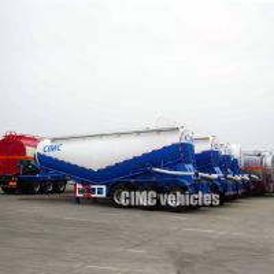 China Pneumatic air compressor cement bulker cement tank trailer pneumatic bulk tanker on sale
