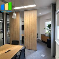 China Office Wood Movable Partition Wall Panel Folding Partition Walls For Conference Room on sale
