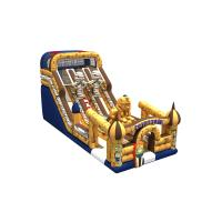 Cheap Inflatable Egyptian pharaoh themed long high slide inflatable the egypt pyramid subject dry slide for sale