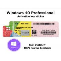 China Online Activation Windows 10 Professional COA , Windows 10 Professional Sticker Computer Software on sale
