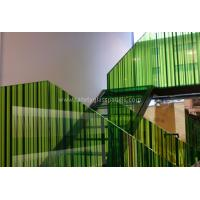 Cheap Monolithic Building Decoration Silk Screen Ceramic Printed Glass Partition 10mm 12mm for sale