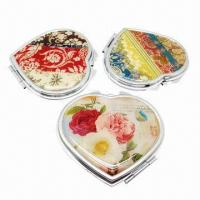 Cheap Heart-shaped Make-up Pocket Mirror for sale