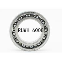 China Gearboxes 6000 Series 6008 2RS Bearing / 6008 ZZ Bearing Carbon Steel on sale