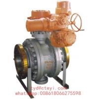 Cheap API 6D Side Entry Flanged Ball Valve Class 150 Trunnion Mounted With Electric Actuator for sale