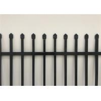 Cheap black powder painted used aluminum picket fence for sale
