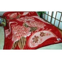 Cheap Double Printed Warm 100% Polyester Blanket ISO , 2 Ply Blanket For Family for sale