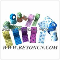 Cheap Pattern Imprinted Cohesive Flexible Sports Tape / Colored Athletic Tape for knee wholesale