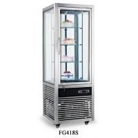 Cheap 418L Stainless Steel Frame Single Temperature Four-sides Tempered Glass Refrigerated Cake Display Cabinets for sale