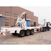 Cheap 37 ton 40ft  Side Loader Trailer , Self Loading Container Trailer for sale