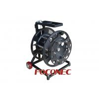 Cheap Easy Movable Steel Fiber Cable Reel / Spool , Fiber Optic Accessories for sale