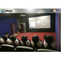 Cheap Park 9D Cinema Seat With Electric / Pneumatic System Round Screen for sale