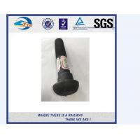 Cheap High Strength Galvanised Bolt And Nut / Rail Bolt With Black Anodize for sale