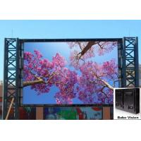 Cheap P8 P10 Waterproof Outdoor Fixed LED Display Screen Front Service Steel Frame Full Color for Advertising for sale