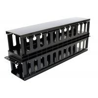 Cheap Plastic Dual Sided Finger Duct Cable Management , Horizontal Rack Mount Brush Panel for sale
