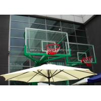 Cheap Replacement Curved Sheet Basketball Goal Glass Backboard 8mm / 10mm , Light Blue for sale