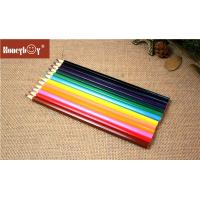 Cheap Bulk packing cheap 24 color pencil set, wooden drawing color pencil pack in kraft paper box for sale