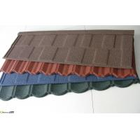 China Colorful Custom Stone Coated Metal Roof Tile 1340mm*420mm Size Compact on sale