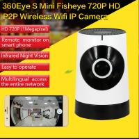 Cheap EC5 720P Fisheye Panorama WIFI P2P IP Camera IR Night Vision CCTV DVR Wireless Remote Surveillance on iOS/Android App for sale