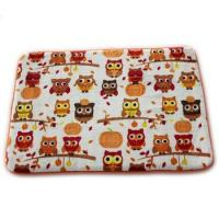 Cheap Lovely Owl Printed Memory Foam Bath Mat 20 X 30cm Size Eco - Friendly Stocked Anti Slip for sale