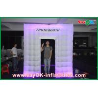 China LED Photobooth inflatable White Photo Booth Lighting Tent With 210 D Oxford Color on sale