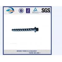 Cheap Head Forming DIN Standard Railway Sleeper Screws With Plain Oiled for sale